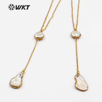 WT-N1127 WKT New Natural Baroque Pearl Charm Swearter Chain Jewelry For Female Gift Top Quality Fashion Women Long Necklace - DISCOUNT ITEM  15 OFF Jewelry & Accessories