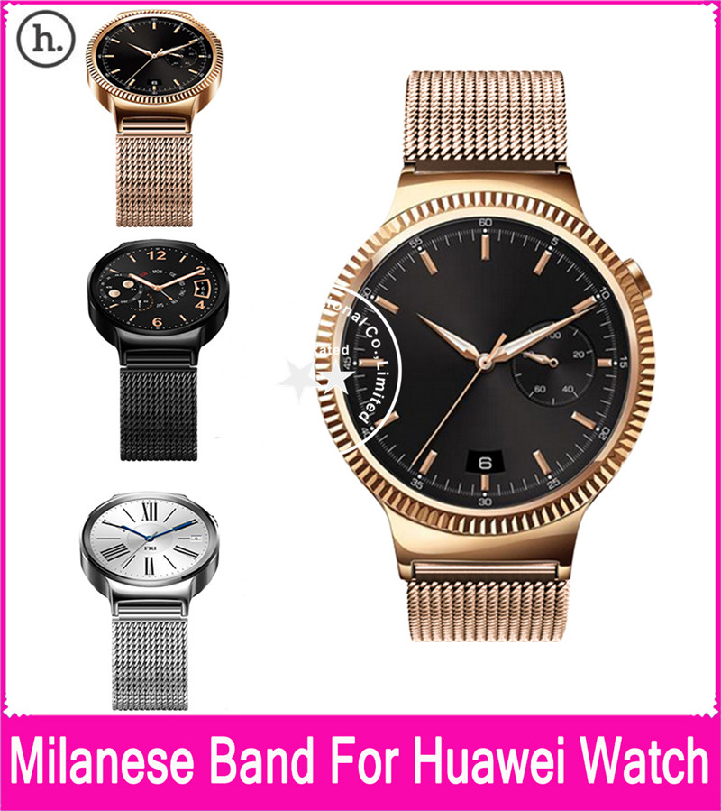 где купить  Hot Sale Hoco 3 Colors Milanese Band For Huawei Watch 42mm With Magnetic Closure And Beautiful Retail Package  по лучшей цене