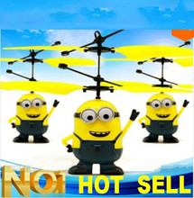 Free Shipping Remote Control RC Despicable Me Minion Sensing Helicopter Quadcopter Drone Hot Sale 2016