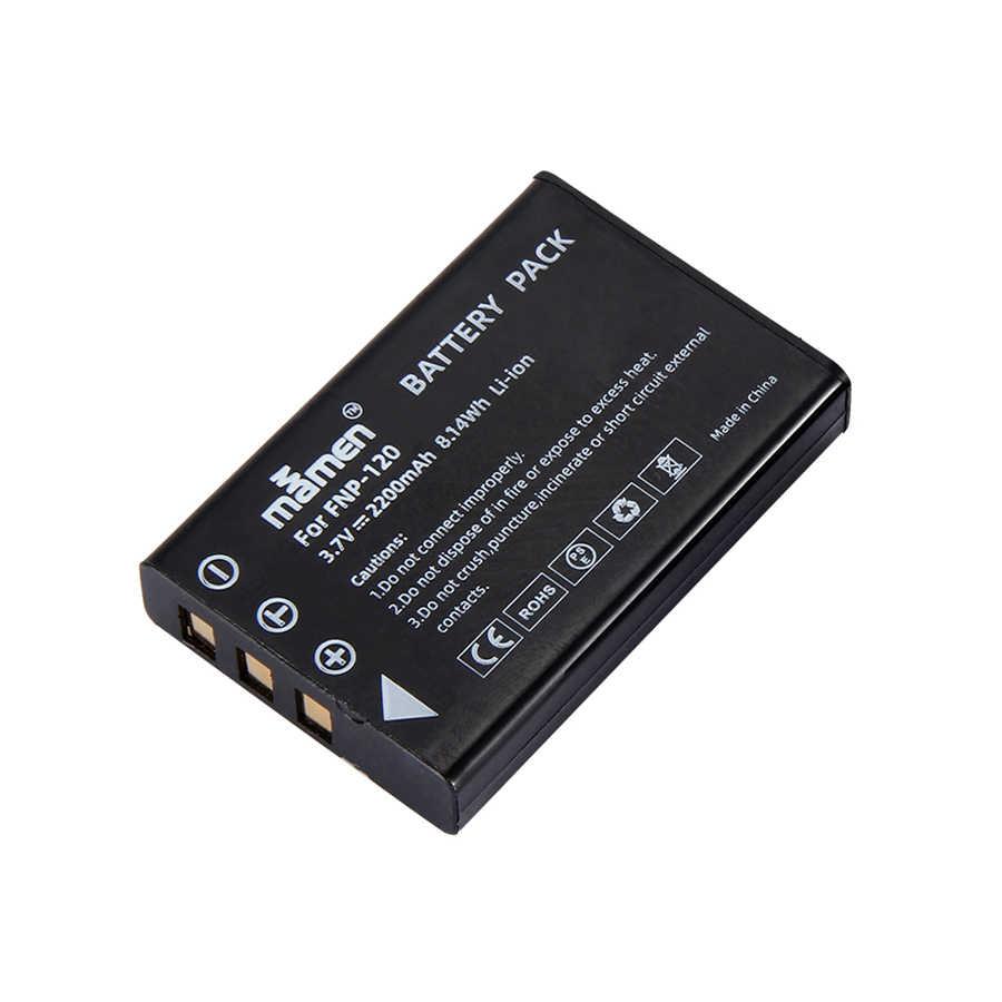 Mamen 2200 мА/ч, NP-120 FNP120 NP120 цифровой батарейный блок камеры для ЖК-дисплея с подсветкой Fujifilm FinePix F10 F11 зум M603 MX4 603 батареи bateria