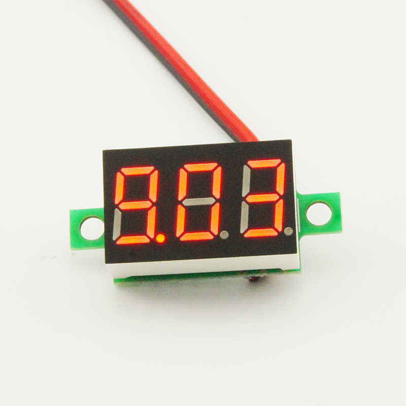 0.36 Inch  4-30V Mini LED Digital Voltmeter Red Panel Voltage Meter  Digit Display Adjustment Voltmeter
