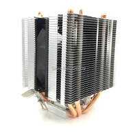9cm Fan 4 Heatpipe Dual Tower Intel LGA775 115x AMD AM2 AM3 FM1 FM2 CPU Radiator
