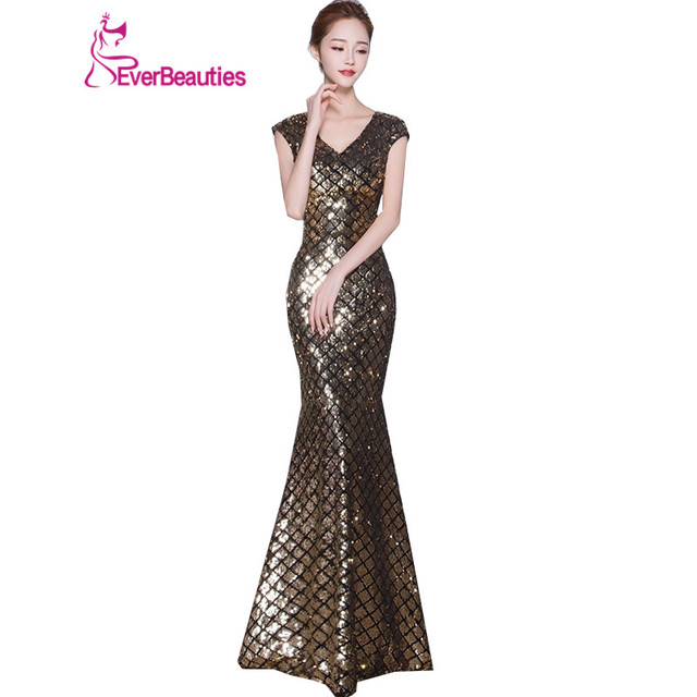 Us 67 28 35 Off Elegant Luxury Evening Dress 2019 Floor Length Gowns Silver Mermaid Wedding Guest Engagement Long Formal Party Dress Abiye In
