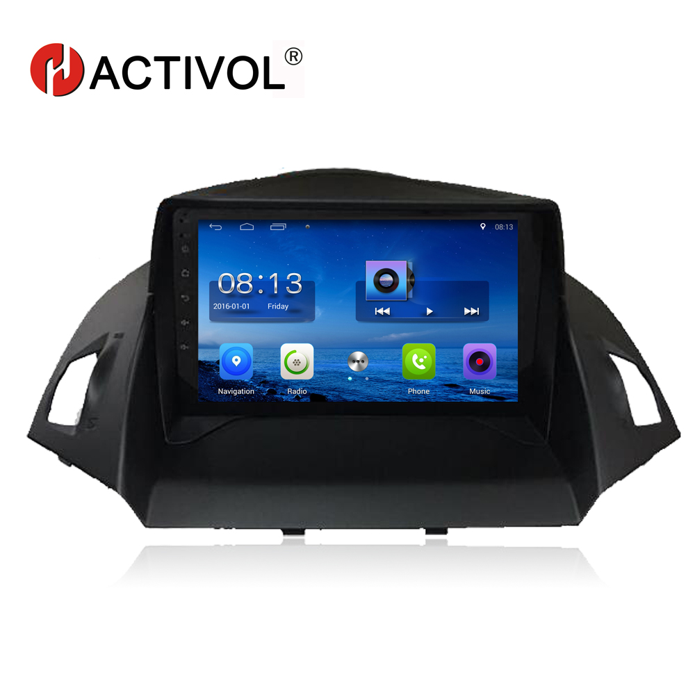 HACTIVOL 9 Quad core car radio gps navigation for Ford KUGA 2013 2014 2015 android 7.0 car DVD video player with 1G RAM 16G ROM rom 16g 2 din android car dvd for mazda cx 5 2012 2013 2014 navigation radio audio gps ipod bluetooth russian menu