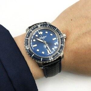 Image 2 - Nieuwe 5015 Heren Rvs Horloge Automatische Duikhorloge 20ATM Sapphireglass Bezel Retro San Martin Mannen Mechanische Horloge
