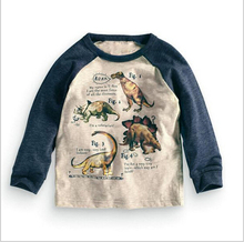 Long Sleeve 100% Cotton Dinosaur T-shirts