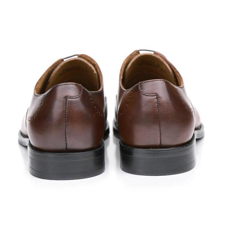 Genuína Brogues Brown Oxfords Sapatos Escritório Vestido Krusdan Homens coffee Marca 2019 Italiana Casamento De Couro Café Dos Calçados Marrom Festa Masculinos 6wxtHBq