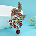 Colorful Birds Brooches Fine Women's Hijab Accessories bridal Best Rhinestone Pin Brooch Esmalte De Unhas Enamel Broaches Women