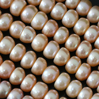 Making jewelry freshwater orange natural pearl abacus loose beads 9-10mm wholesale retail hot sale 15inch B1386