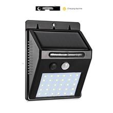 30/40 LED Outdoor Solar Wall Lamp PIR Motion Sensor Waterproof Light Garden Path Emergency Security 3 Sided Luminous