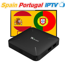 TX3mini Android 7.1 Smart TV Box with 12 Months Spain Portugal IPTV Subscription 200 Spanish 140 Portugal Eleven Sport 100 Adult