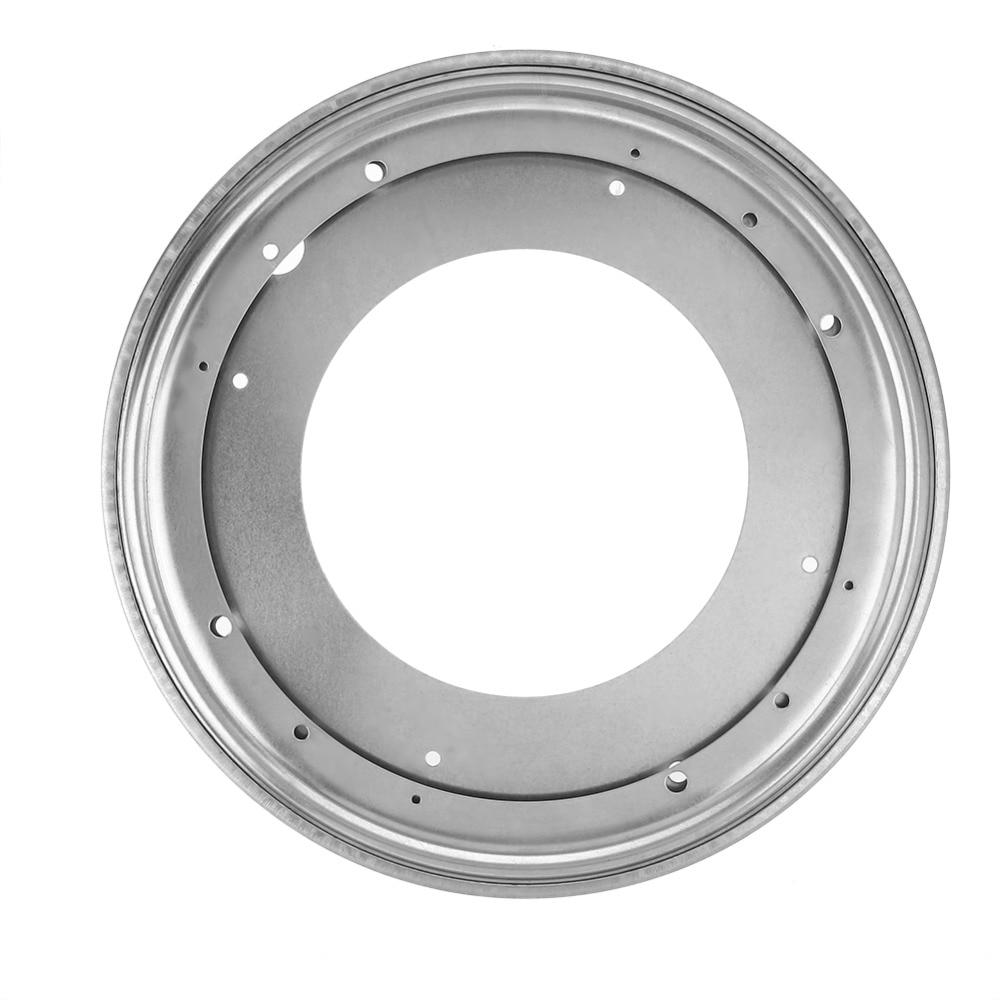 12 Zoll Runde Form Verzinktem Plattenspieler Rotierenden Schwenk Platte Küche & Display Tisch Hardware Warmes Lob Von Kunden Zu Gewinnen