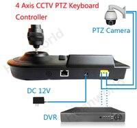 4D PTZ Keyboard Joystick PTZ Controller Keypad Support DVR And Matrix Control For For Surveillance CCTV
