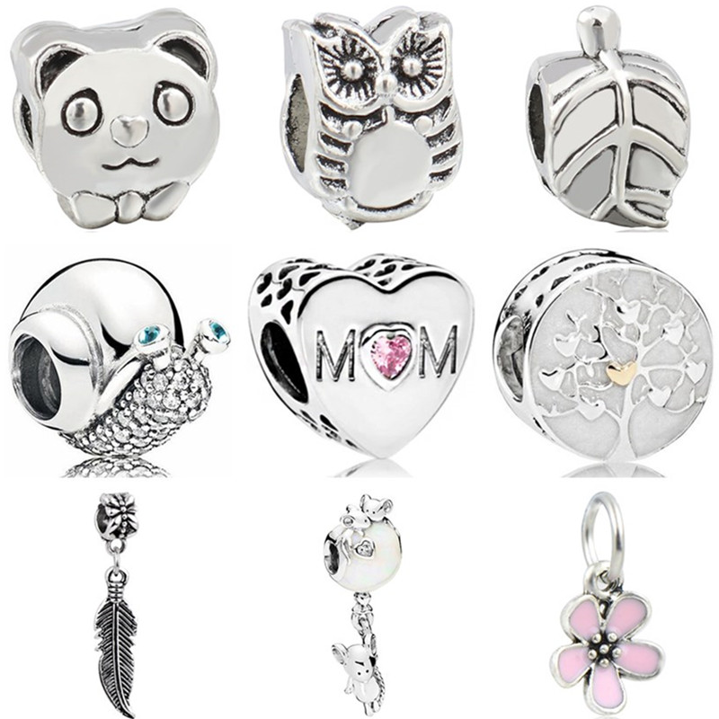 Heart Bead Jewelry Charms Crystal Fit Pandora Women High-Quality Lion Bell for DIY Bangles
