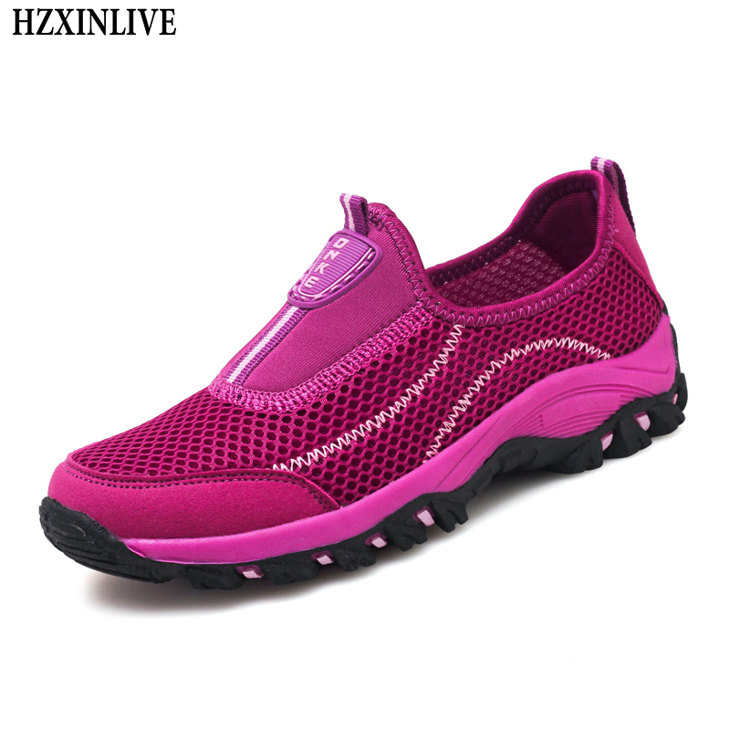 HZXINLIVE 2018 Flats Shoes Women Slip-on Loafers Breathable Zapatos Mujer Ladies Casual Walking Shoes Fashion Summer Sneakers women flats summer shoes fashion owl print canvas ladies ballet flat casual breathable slip on shoes zapatos mujer