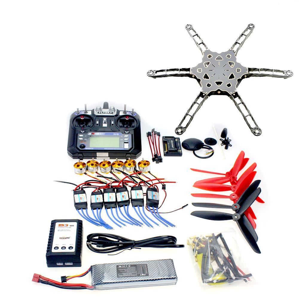 DIY FPV Drone Full Set GPS APM2.8 Totem Q450 Alien Across Carbon Fiber Flysky FS-i6 6CH TX&RX Motor ESC Propeller F11798-F