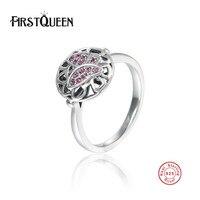 FirstQueen Аутентичные Стерлингового Серебра 925 Животных Бабочка Кольца для Женщин Древняя Серебряные Ювелирные Изделия