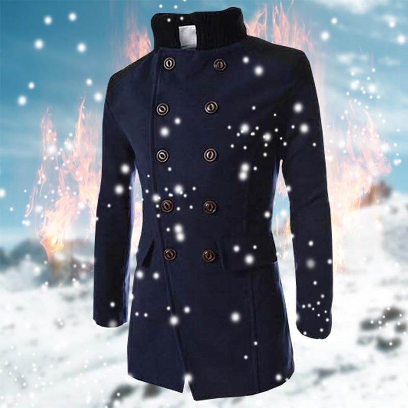 Energetic 2018 Autumn Winter Trend Mens Woolen Jackets Trench Coat Men Outwear Collars Windbreaker Woolen Business Casual Overcoat Homme 100% Original Back To Search Resultsmen's Clothing