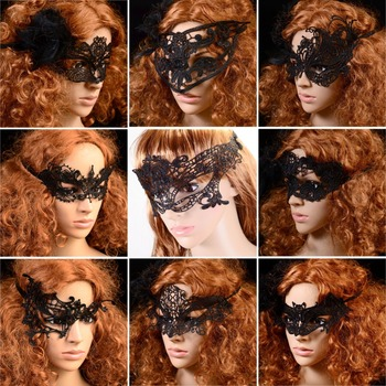 9 Styles Party Costume Lace Eye Masks Women Eyewear Masquerade Prop Dressup for Mask Evening Party