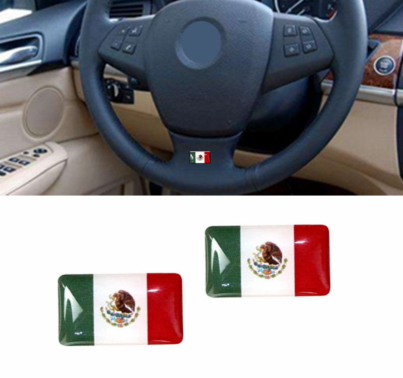 100 Pieces Mexico Flag Car styling Decorations Estados Unidos Mexicanos Flags Car Steering Wheel Audio Interior