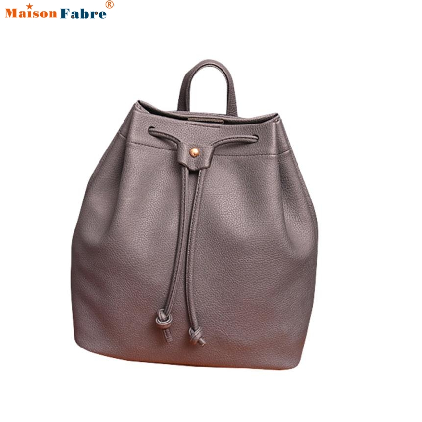 Women Fashion Backpack DrawstringTravel Satchel Comfystyle Bucket BagS san14pin
