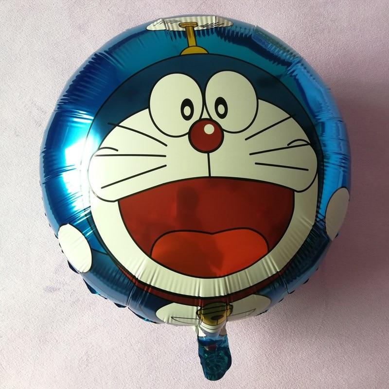 5PCS 2018 New doraemon foil balloon kitty balloon.Birthday Party Decorations kids Party Supplies cartoon letter ballons