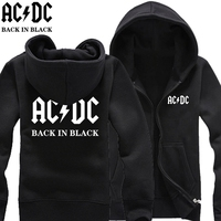 new free shipping ACDC AC/DC rock band back in black Australian Mlalcolm Young print letters man cardigan