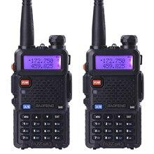 2 pcs BaoFeng UV-5R talkie taklie émetteur-récepteur 5 W VHF UHF Double bande 136-174/400-520 MHz Jambon CB FM radio bidirectionnelle Livraison écouteur