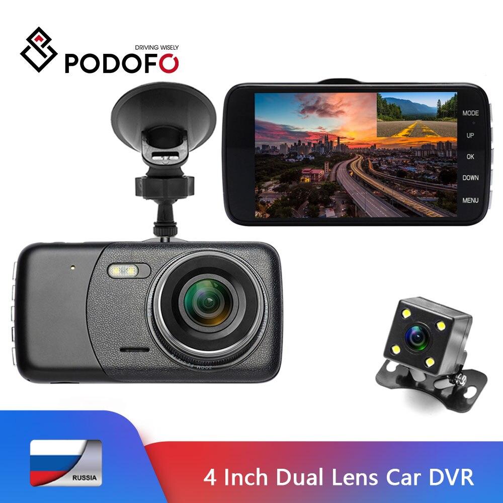 Podofo Camcorder Rearview-Camera Dashcam Dual-Lens Dvrs Car-Dvr G-Sensor Video-Registrars