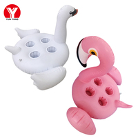 Flamingo Inflatable Drink Holder for Water Party Toys Inflatable Swan Pool Cup Holder Swimming Pool Drink Float Decoration
