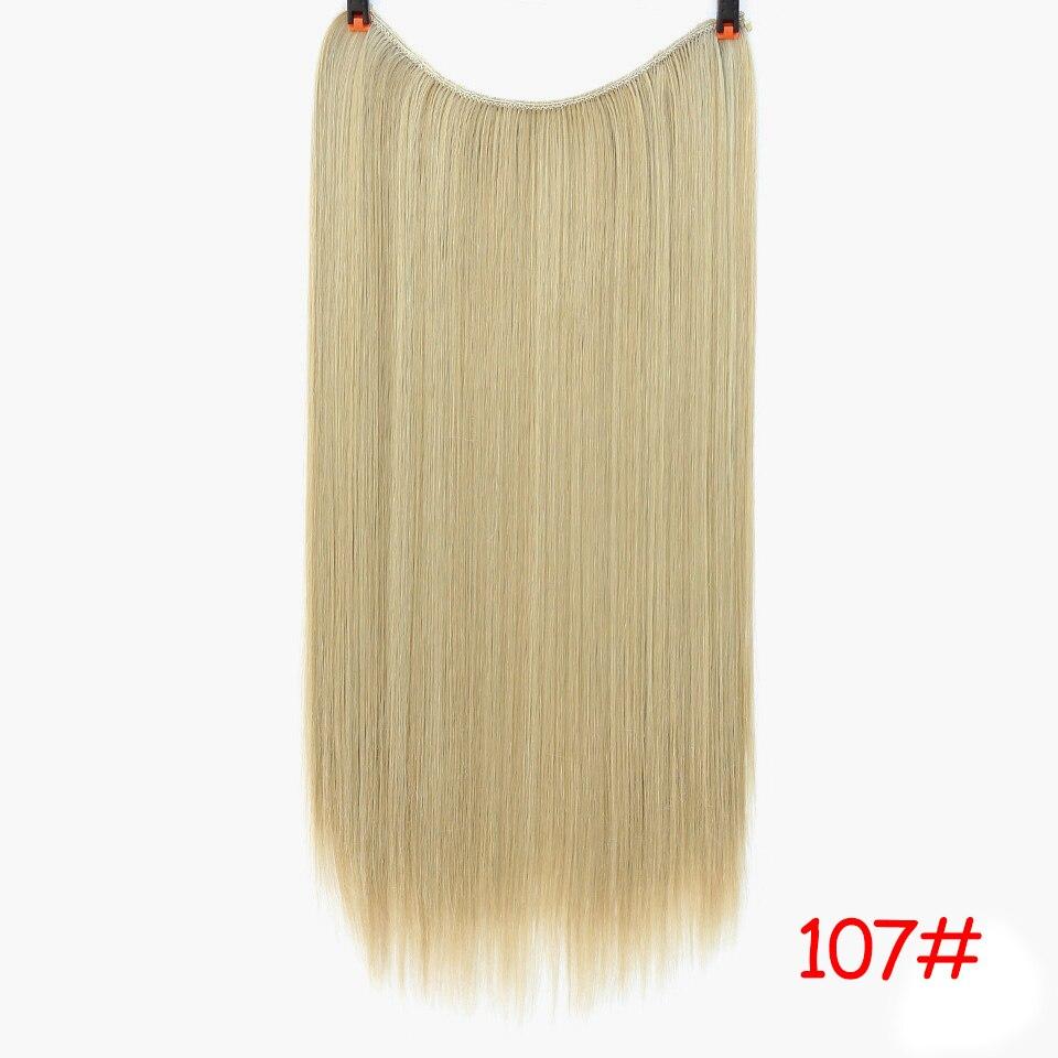 """SHANGKE 2"""" флип-на проволоке в синтетическом скрытом невидимом не клип в головном повязке прямые высокотемпературные волокна для наращивания волос - Цвет: #14"""