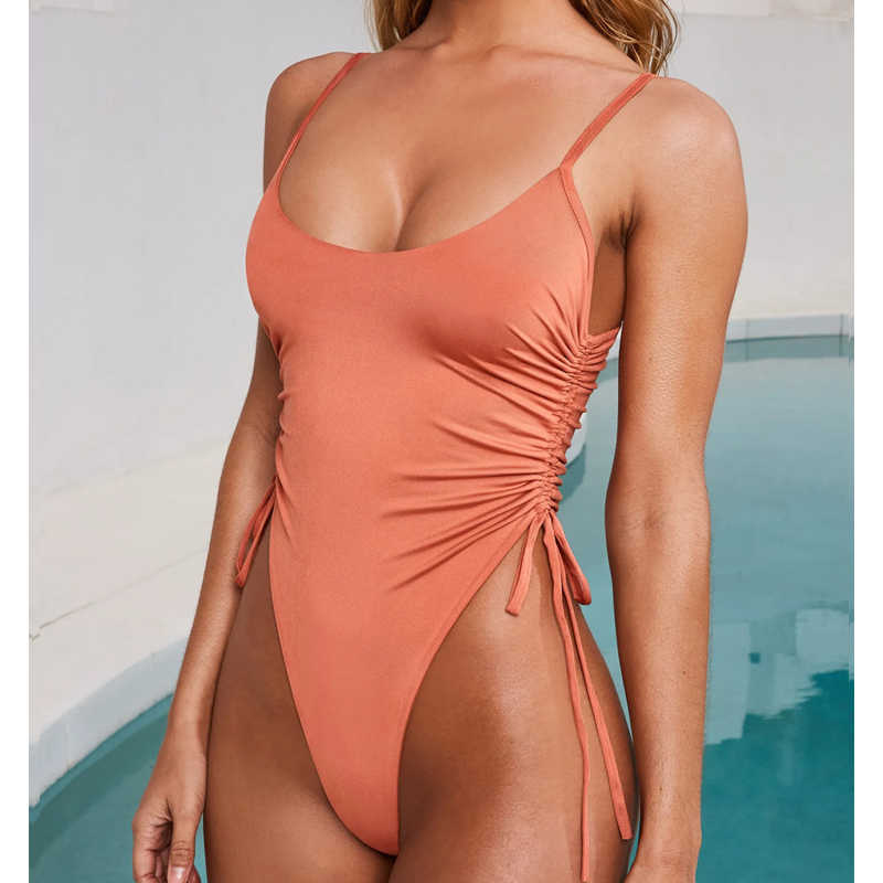Цельный купальник женский Прозрачное Бикини леопардовый купальник пуш-ап купальник с высокой талией купальник-монокини бикини цельный купальник