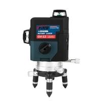 12 линия 3D зеленый лазерный уровень Nivel лазер 360 Graus Lazer уровень Profissional Livella лазеры для profissional строительные инструменты