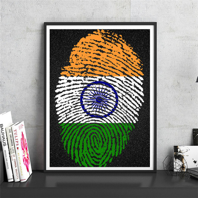 India vintage retro national krafts paper wall art crafts sticker print picture cafe design home living