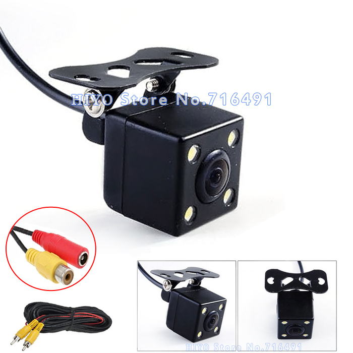 170 Degree wide viewing angle car reverse camera Waterproof front  Backup Parking car rear view camera 18 5mm drill hole car parking backup reverse rear view camera 8 led night vision 170 degree mini waterproof color ccd image