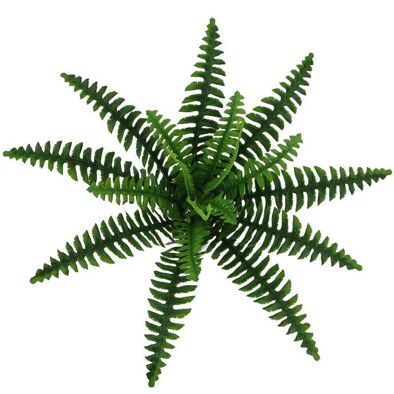 18 Heads Artificial Fern Grass Persian Leaves Plants Simulation Branch Leaf Fake Grass Green Bonsai Wall