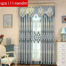 European villa embroidery Blackout window Curtains for Living Room/Bedroom modern pastoral luxury Tulle Curtain for star Hotel beige polyester flannel europe embroidered blackout curtains for living room bedroom window tulle curtains home hotel villa