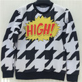 2015 New fashion  women /men hoody  Black and white lightning  3d print  thin hip hop 3d Women's sweatshirt   hoodies pullover