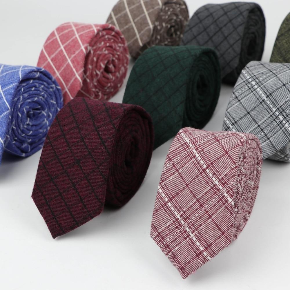 Mens Fashion Necktie Casual Thick Artificial Cotton Plaid Bow Tie Paisley Skinny Ties Men Small Designer Cravat Neckties