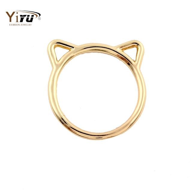 2017 New Fashion Accessories Jewelry Rings Lovely kitty Cat Ear Rings for Women Wedding and Party Gifts R090