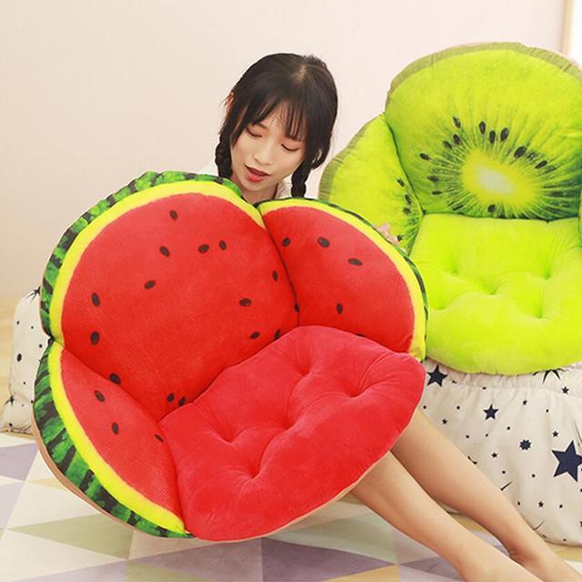 Диван Форма фрукты подушку, пол роскошные подушки 3D Подушка кресло-качалка подушки, office подушки сиденья Кухня стулья подушка
