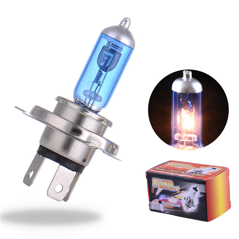 2PCS H4 12V 55W 4000K Xenon H4 Super White Halogen Car Light Source Bulbs Headlights Auto Lamp Parking Cars