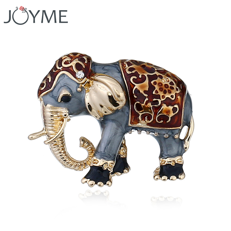 Cute Enamel Elephant Brooch Buckle Shawl And Badges Unisex Animal Brooches Clothing for Women Men Pin Jewelry Gift