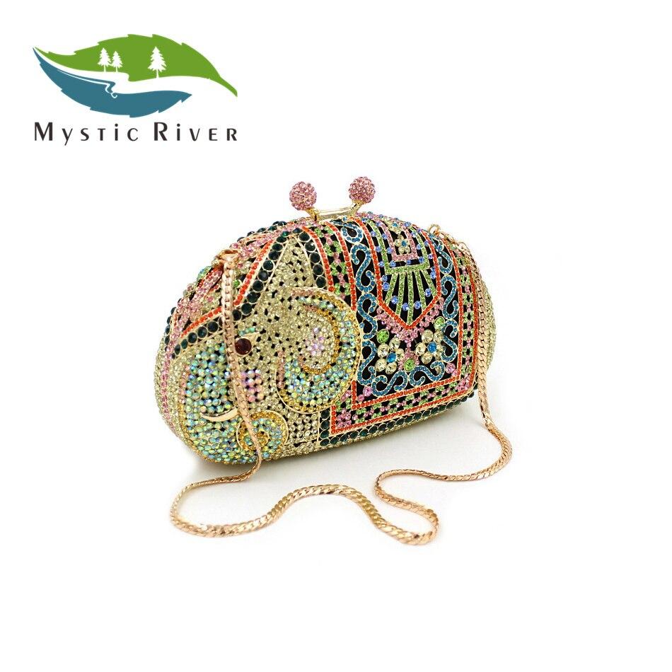 Mystic River Mujeres de Moda de Lujo Crystal Bolsos de Tarde Embragues Del Día d