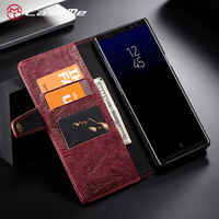 CaseMe Phone Cases For Galaxy Note 8 Luxury Fashion Retro PU Leather Wallet Card Pocket Cover