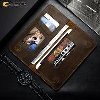 CASESHIP Portefeuille Cas Pour iPhone 6 7 6 S Plus 5 5S SE Samsung S7 S6 Cas Rétro Motif Flip En Cuir Véritable 5.5 pouce Cas poche
