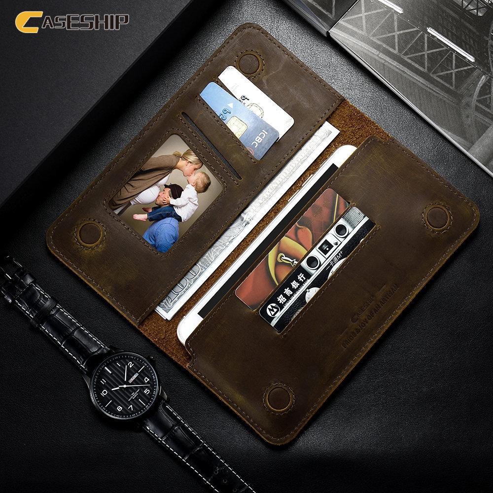 Цена за Caseship кошелек ca s e для iPhone 6 7 6 S plu S 5 5S SE SAM S Унг s 7 S6 ca s e ретро-модель Флип Натуральная кожа 5.5 inch ca s e s Чехол