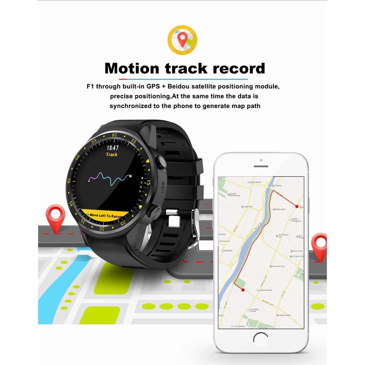 TenFifteen F1 Спортивные Смарт-часы gps Смарт-часы телефон 1,3 дюймов MTK2503 двойной Bluetooth Beidou камера сердечного ритма/сна Monito