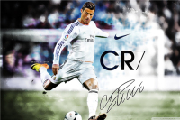 Cristiano Ronaldo Poster Football Madrid Posters Ronaldo Wall Sticker CR7 Wallpaper World Cup Stickers Soccer Canvas