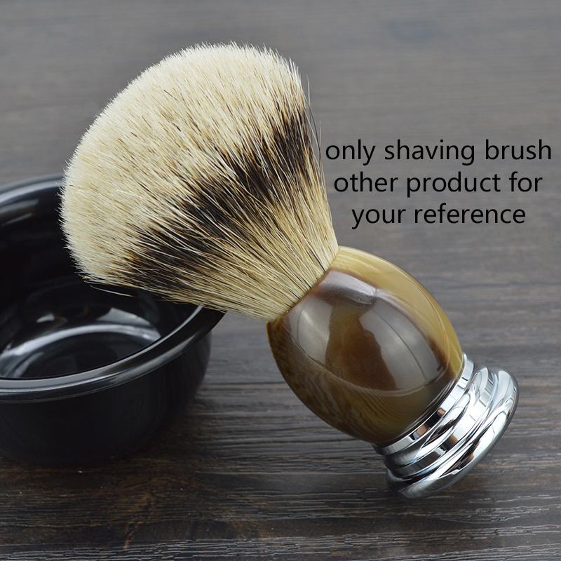 DSCOSMETIC shaving brush new arrival silvertip badger hair and resin handle shave barber tool dscosmetic high quality silvertip badger hair shaving brush shave stand and mach 3 razor metal and shaving bowl for men shave